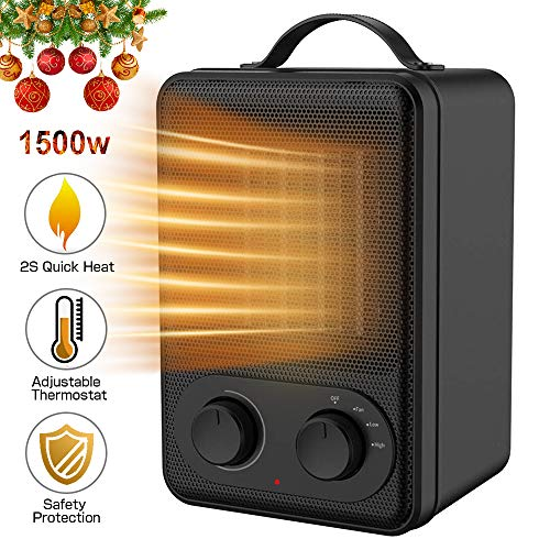 Kitclan Personal Space Heater 1500w For Office Home